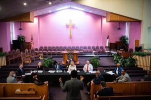 Roundtable discussion at Pentecostal Temple Church of God in Christ, Photo Cred: White House Office of Economic Initiatives
